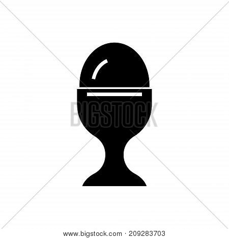 boiled egg icon, illustration, vector sign on isolated background
