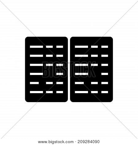 Bookkeeping - budget icon, illustration, vector sign on isolated background