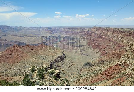 South Rim in Grand Canyon National Park. Arizona. USA