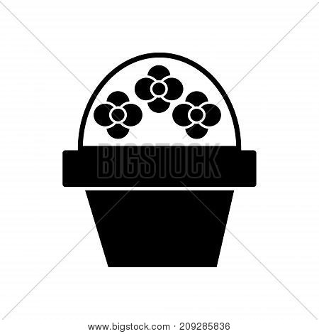 brush flower icon, illustration, vector sign on isolated background
