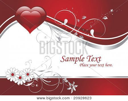 abstract creative artwork and heart shape card for valentine