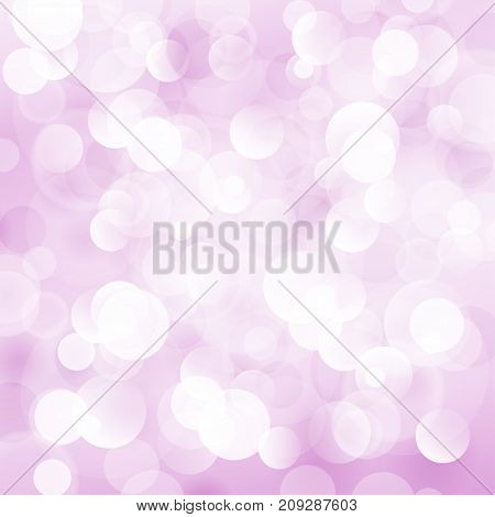 Soft Bright Abstract Bokeh Background in Shades of Pink Soft Glow of the Sun Defocused Lights