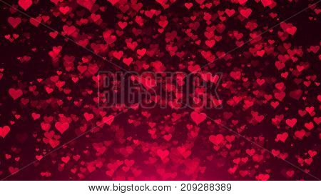 Abstract Background With Hearts. Digital Illustration