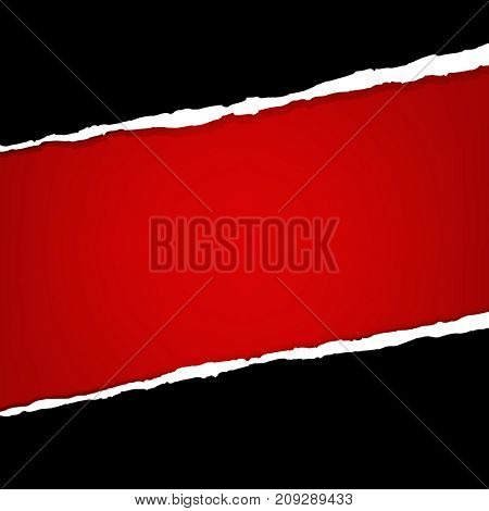 Banner With Ripped Paper