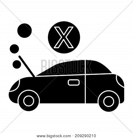 car broke icon, illustration, vector sign on isolated background