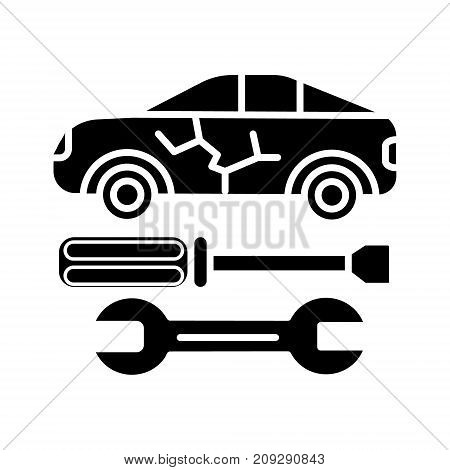 car service icon, illustration, vector sign on isolated background
