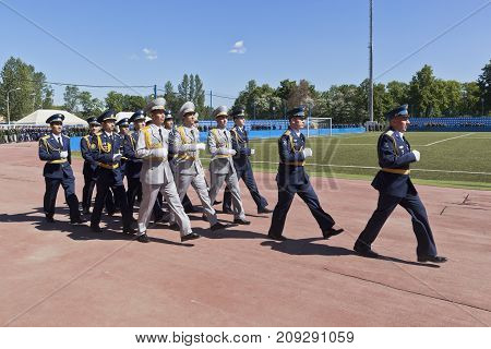 St. Petersburg, Russia - June 16, 2017: Story military personnel of friendly countries, graduates from the Military space Academy imeni A. F. Mozhaisky