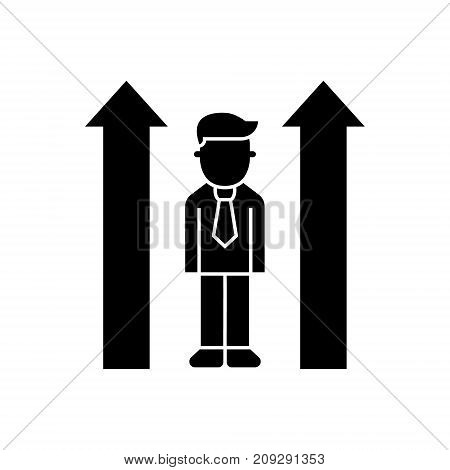 career up - personality icon, illustration, vector sign on isolated background