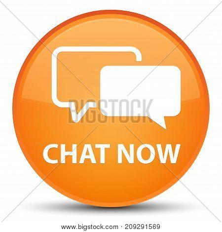 Chat Now Special Orange Round Button
