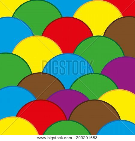 Colorful abstract background from figures.Vector background from figures