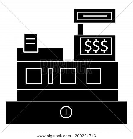 cash machine - shop register icon, illustration, vector sign on isolated background