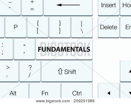 Fundamentals White Keyboard Button