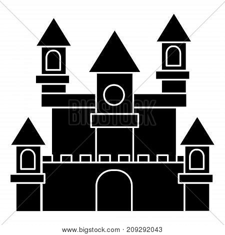 german castle icon, illustration, vector sign on isolated background