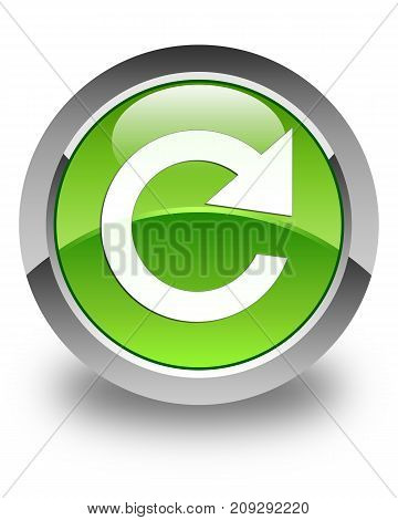Reply Rotate Icon Glossy Green Round Button