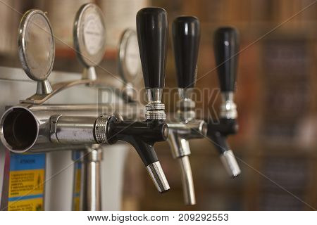 detail of a spinator used to spin wine and beer in a bar. industrial equipment for catering.