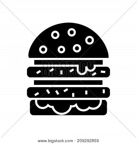 cheeseburger icon, illustration, vector sign on isolated background
