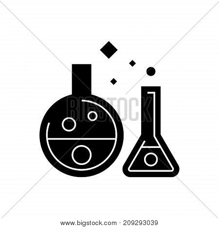 chemistry lab - experiments icon, illustration, vector sign on isolated background
