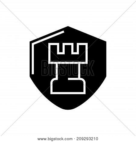 chess tactics icon, illustration, vector sign on isolated background