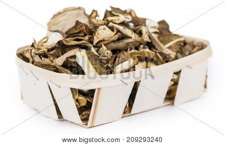 Dried Porcinis Isolated On White