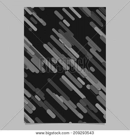 Modern seamless chaotic rounded diagonal stripe background pattern card background template - vector brochure design
