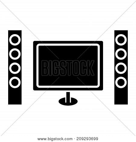 cinema home theater icon, illustration, vector sign on isolated background