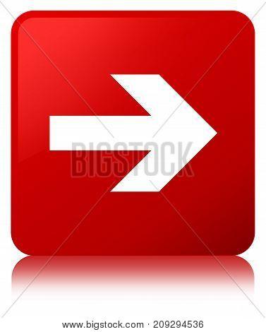 Next Arrow Icon Red Square Button