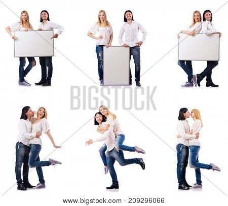 Pair of blank board isolated on white