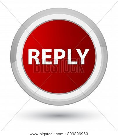Reply Prime Red Round Button