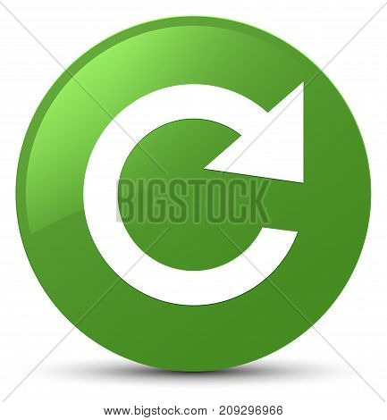 Reply Rotate Icon Soft Green Round Button
