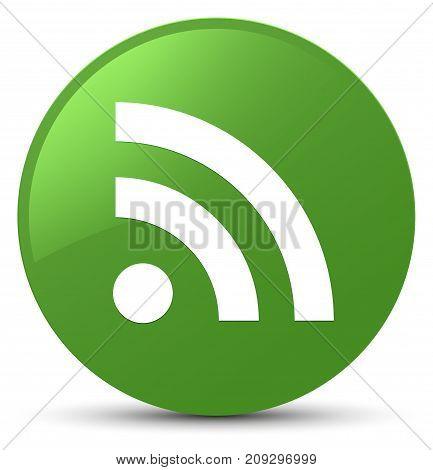 Rss Icon Soft Green Round Button
