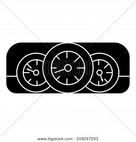 dashboard car icon, illustration, vector sign on isolated background