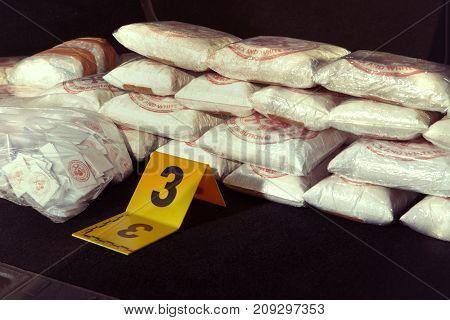 Criminal drug dealer found mordered in car under bridge with trunk full of drugs poster