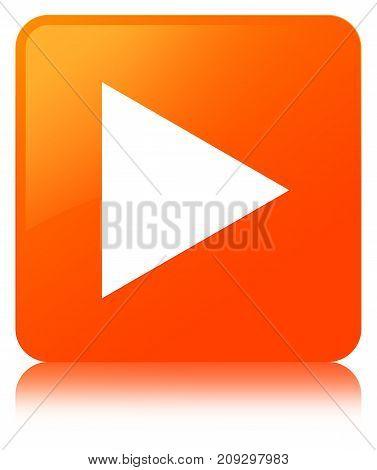 Play Icon Orange Square Button