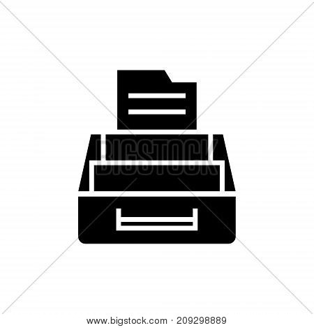 document archive icon, illustration, vector sign on isolated background
