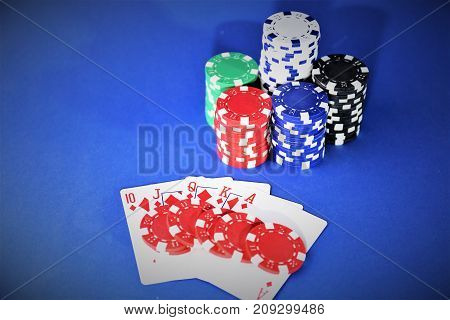 An concept image of a casino poker