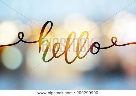 Hello Vector Lettering