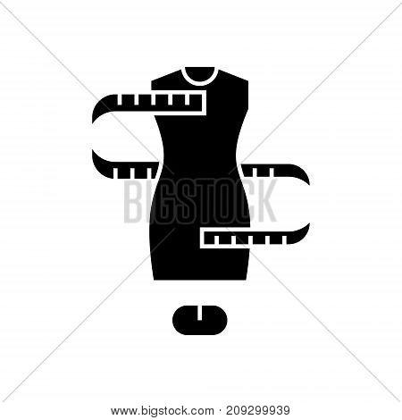 dress size - sizing -   icon, illustration, vector sign on isolated background
