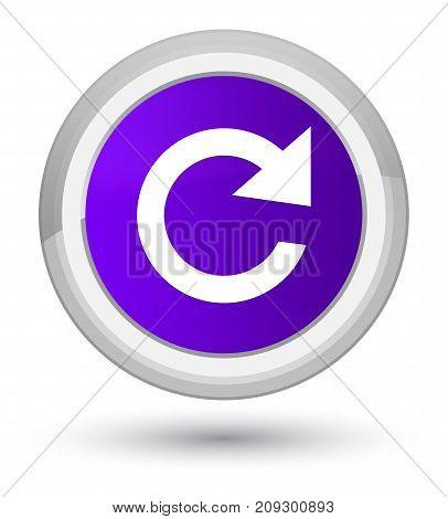 Reply Rotate Icon Prime Purple Round Button