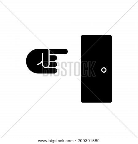 exit icon, illustration, vector sign on isolated background
