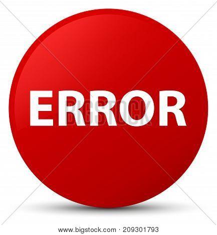 Error Red Round Button