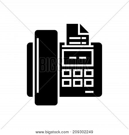 fax icon, illustration, vector sign on isolated background