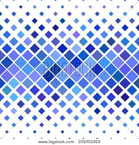 Abstract square pattern background - geometric vector illustration from diagonal squares in blue tones
