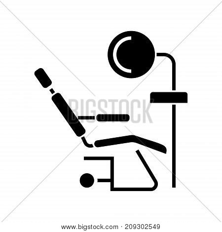 dental clinic - dentist's chair icon, illustration, vector sign on isolated background