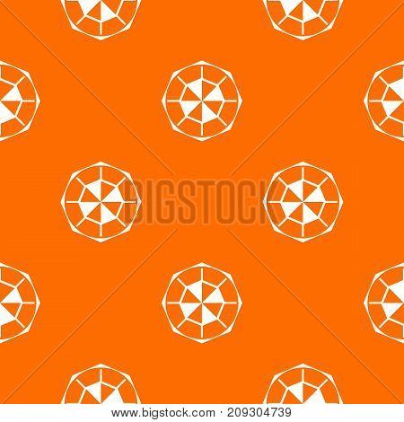 Diamond gemstone pattern repeat seamless in orange color for any design. Vector geometric illustration