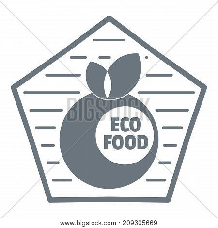 Diet food logo. Vintage illustration of diet food vector logo for web