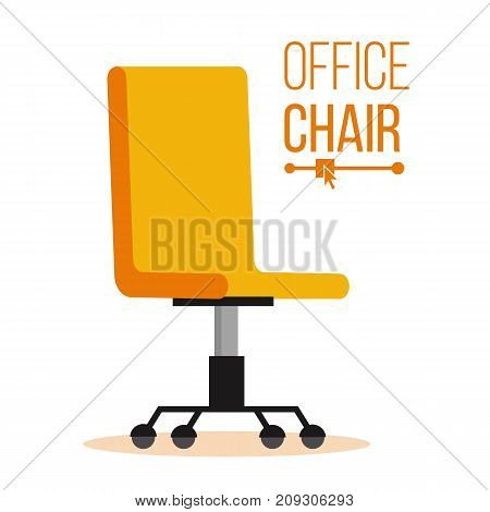 Office Chair Vector. Business Hiring And Recruiting. Empty Seat For Employee. Ergonomic Armchair For Executive Director. Furniture Icon