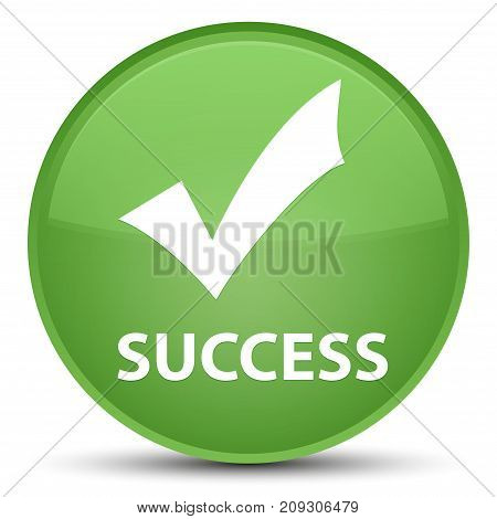 Success (validate Icon) Special Soft Green Round Button