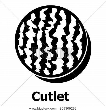 Cutlets icon. Simple illustration of cutlets vector icon for web
