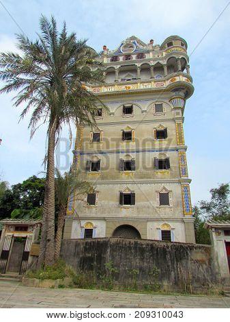 Kaiping Diaolou Jinjiangli watchtower in Chikan Unesco world heritage site Guangdong China