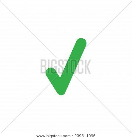 Flat Design Style Vector Check Mark Icon On White
